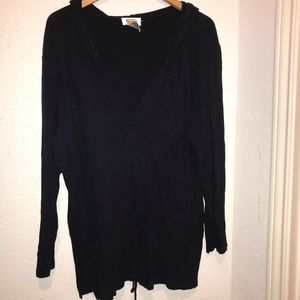 Women's XL Black or White Talbots Hoodie Sweater